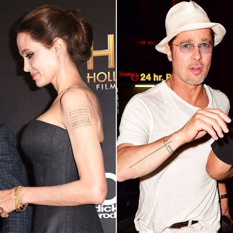 angelina jolie brad pitt s tattoos revisited after split