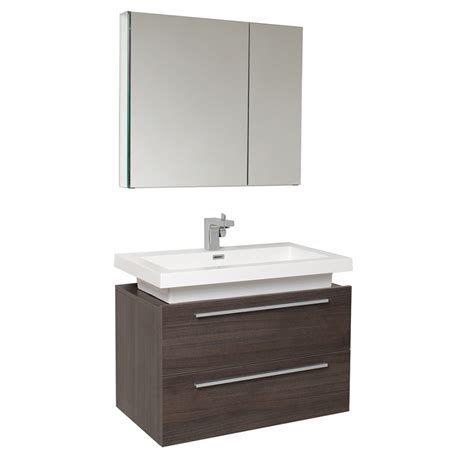 31 25 inch gray oak modern bathroom vanity with medicine