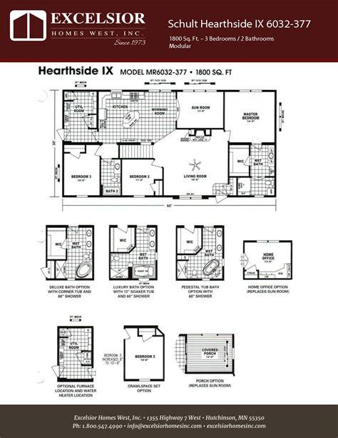 schult modular home floor plans schult hearthside ix excelsior homes west inc