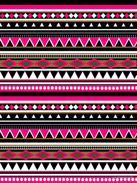 Aztec Pattern In Pink | quot pink aztec pattern quot by sirmaverick redbubble