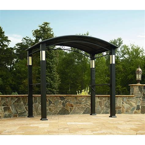 Outdoor Shelter Canopy by Outdoor Gazebo Canopy Bbq Grill Pro Shelter Integrated