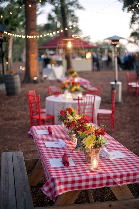 Decorating Ideas Volunteer Banquet 25 Best Ideas About Picnic Table Centerpieces On