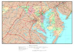 usa map maryland state large detailed administrative map of maryland with