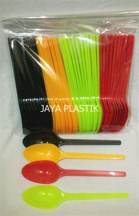 Eceran Sendok Makan Plastik Hitam Termurah jual sendok makan warna warni jaya plastik