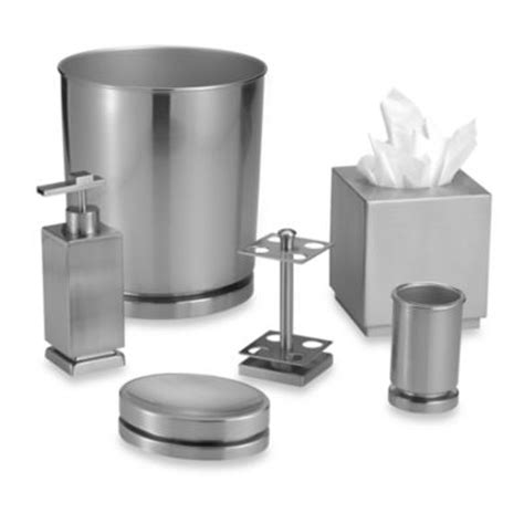 buy brushed nickel bathroom accessories from bed bath beyond