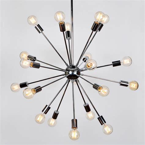 Sputnik Pendant Light Lights Ceiling Lights Chandeliers 20 Light Sputnik Pendant In Chrome Large