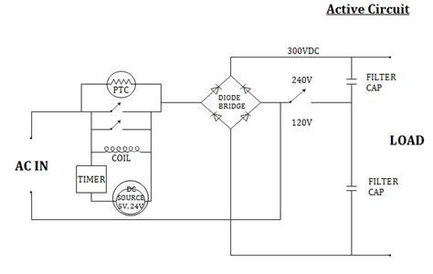 ptc resistor circuit ptc thermistors for inrush current limiting ametherm