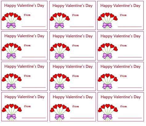 printable gift tags for valentines 5 best images of printable valentine tags printable
