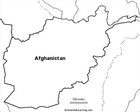 Afghanistan Pakistan Map Outline by Outline Map Afghanistan Enchantedlearning