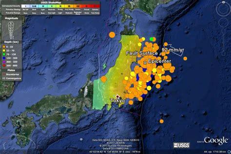 imagenes google earth terremoto chile geom 225 tica educativa el terremoto y tsunami de jap 243 n
