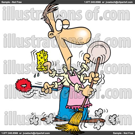 cleaning kitchen clipart