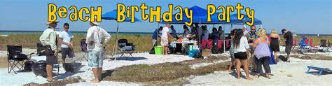 birthday boat rentals birthday party ideas ta fl island beach party