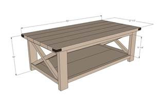 Coffee Table Dimensions White Rustic X Coffee Table Diy Projects