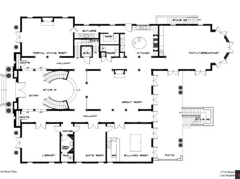 stone mansion floor plans 25 million newly listed mansion in bel air ca with floor