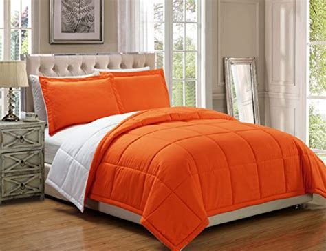 goose down comforter washing instructions 3 piece luxury orange white reversible goose down