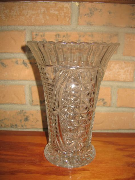 Vintage Glass Vases For Sale by Vintage Clear Cut Glass Flower Vase For Sale Antiques Classifieds