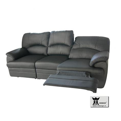 divani con recliner divano relax motorizzato con 2 recliner ecopelle della