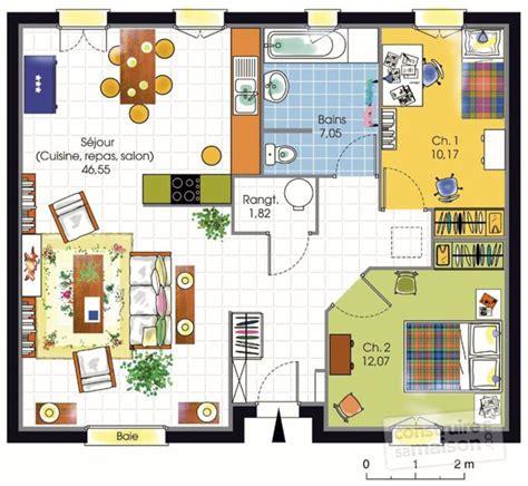 plan pavillon 100m2 exposition plan maison chambres maison accessible dtail du