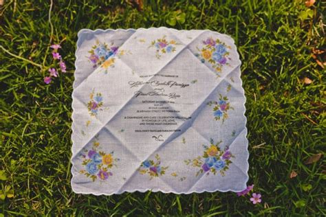 printed handkerchief wedding invitations 37 best images about wedding handkerchief tradition on