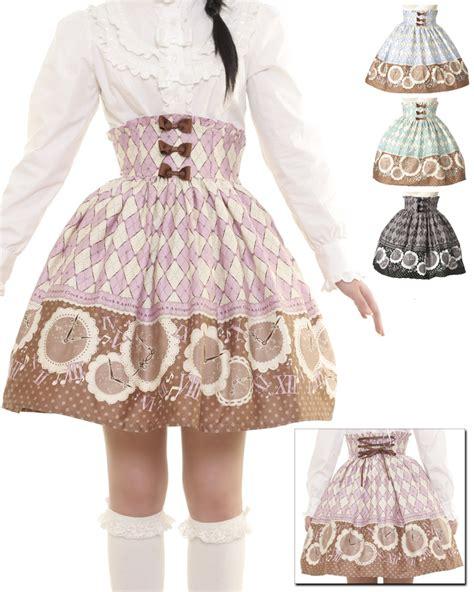 Clock Skirt Antique Clock High Waist Skirt L305