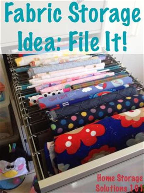 home storage solutions 101 how to organize store fabric by filing it simple cheap