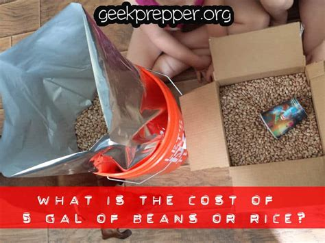 The Cost Of Beans by What Is The Cost Of 5 Gallons Of Beans And Rice