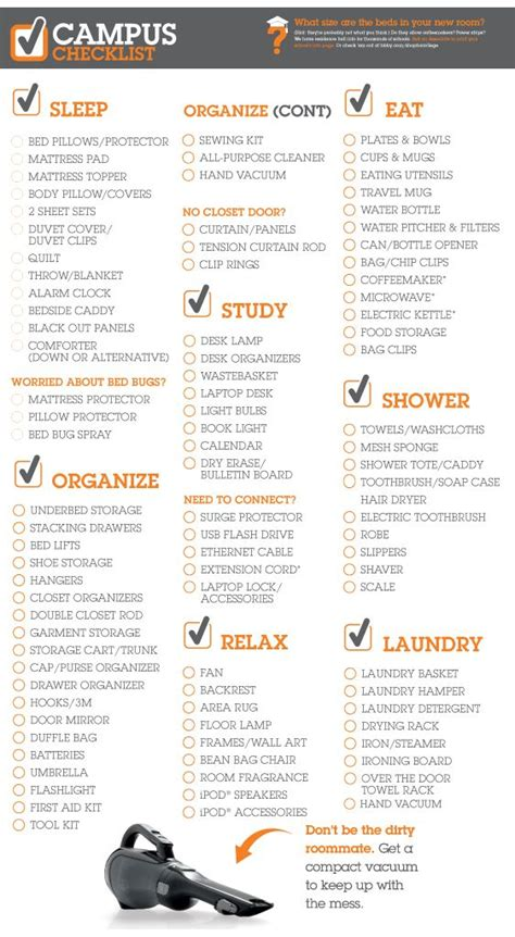 bed bath and beyond college checklist college checklist bed bath and colleges on pinterest