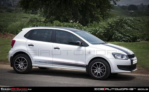 volkswagen polo white colour modified pics tastefully modified cars in india page 88 team bhp
