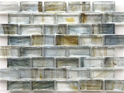 mirabelle collection glass tile blue gray brown brick