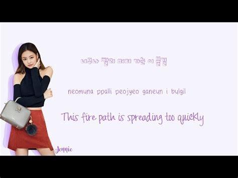 blackpink zing mp3 blackpink playing with fire lyrics 불장난 han rom eng