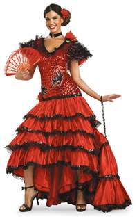 Mexican Home Decorations adult super deluxe red spanish beauty costume costume craze