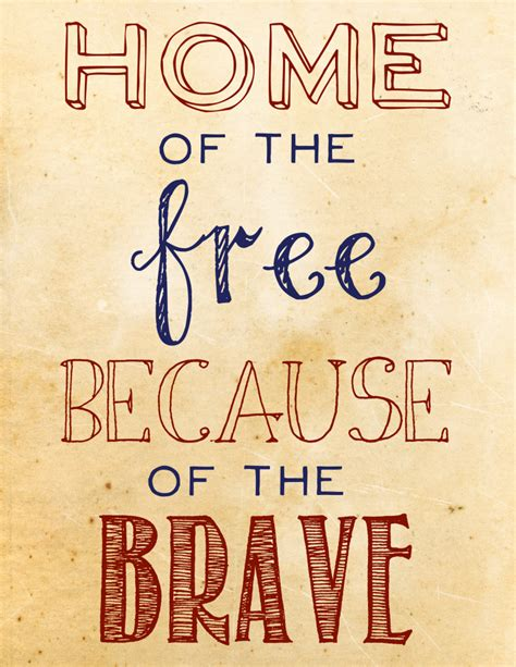 home of the free because of the brave everything