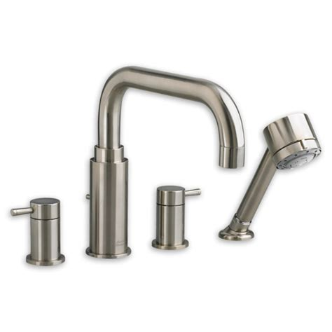 one piece bathtub faucet american standard tub filler serin deckmount 4 piece