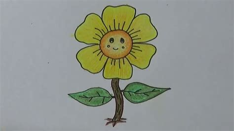 lihat sketsa lukisan bunga matahari wallpaper keren kartun