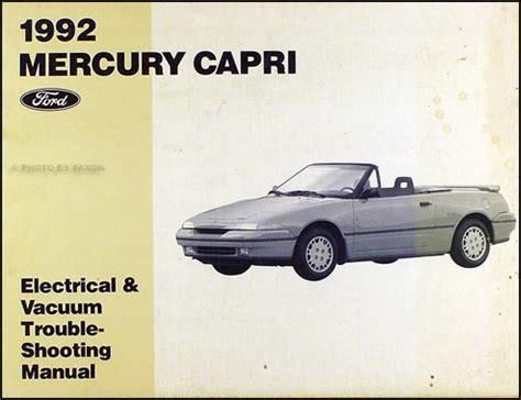 1992 mercury capri and xr2 repair shop manual original