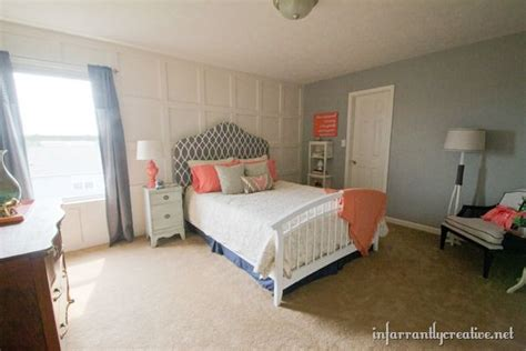 pretty things design coral gray bedroom bedroom makeovers reveal inspiring design ideas