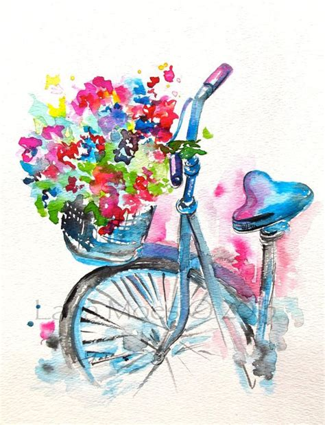 Summer Sketches 82 by Original Watercolor Summer In Illustration By