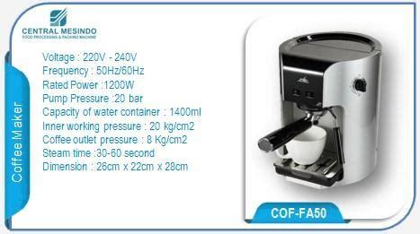 Machine Coffee Espresso Fomac Cof Fa50 Mesin Pembuat Harga Murah espresso jual mesin sewa mesin