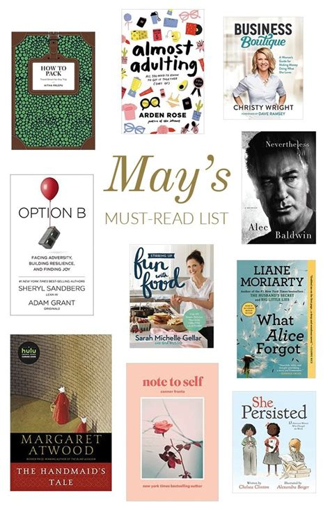the must guide a listed must read list for may glitter guide