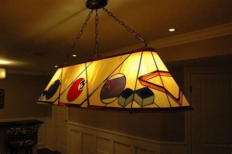 stained glass pool table light hand crafted custom stained glass pool table l by knapp