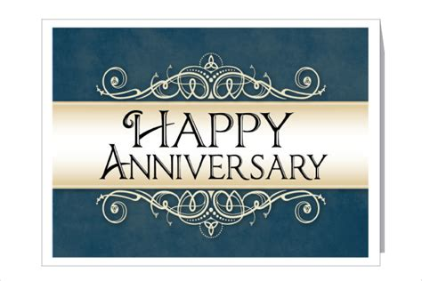 Work Anniversary Card Templates by 9 Work Anniversary Cards Free Sle Exle Format