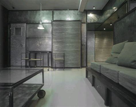 Metal Interior Walls by Industrial Interior Modern Metal Apartment Design