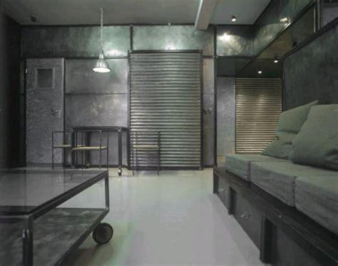 industrial interior modern metal apartment design