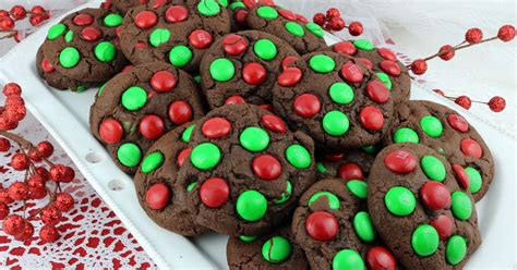 chocolate mm christmas cookies  sisters