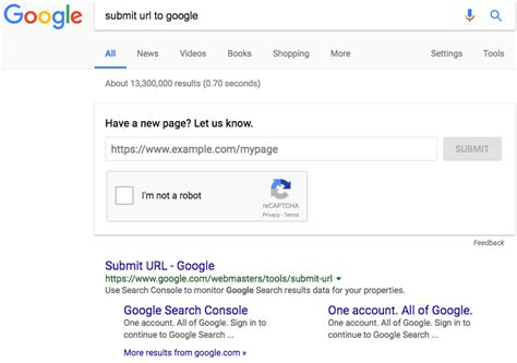 google images url search you can submit urls to google in google s search results