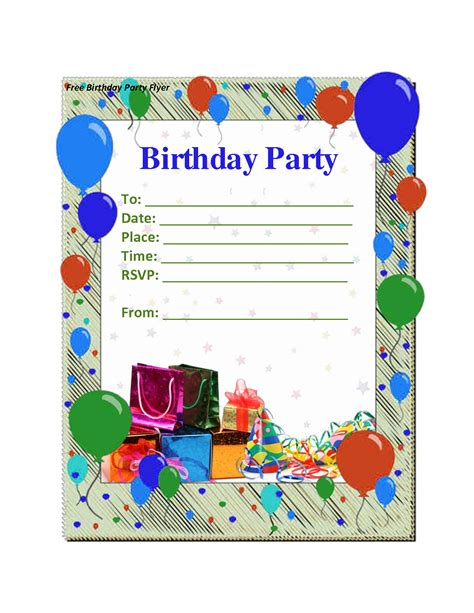 Happy Birthday Invites Template birthday invitation template