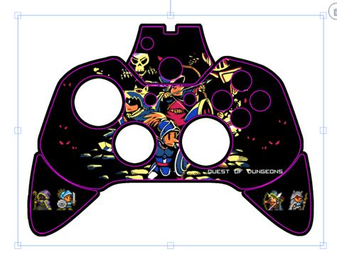 xbox controller skin template make your own qod xbox one controller upfall studios
