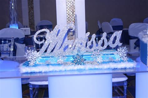 sweet 16 winter decorations winter bling sweet 16