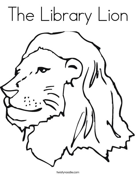 the library lion coloring page twisty noodle