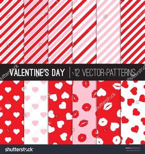 pattern variables deutsch valentines day patterns red white pink stock vector